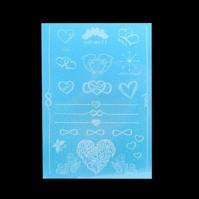 1pc Waterproof Tattoo WM-LS1010 Temporary White for Women Body Neck Art Flower Letter Jewelry Paste Tattoo Henna Sticker Wedding