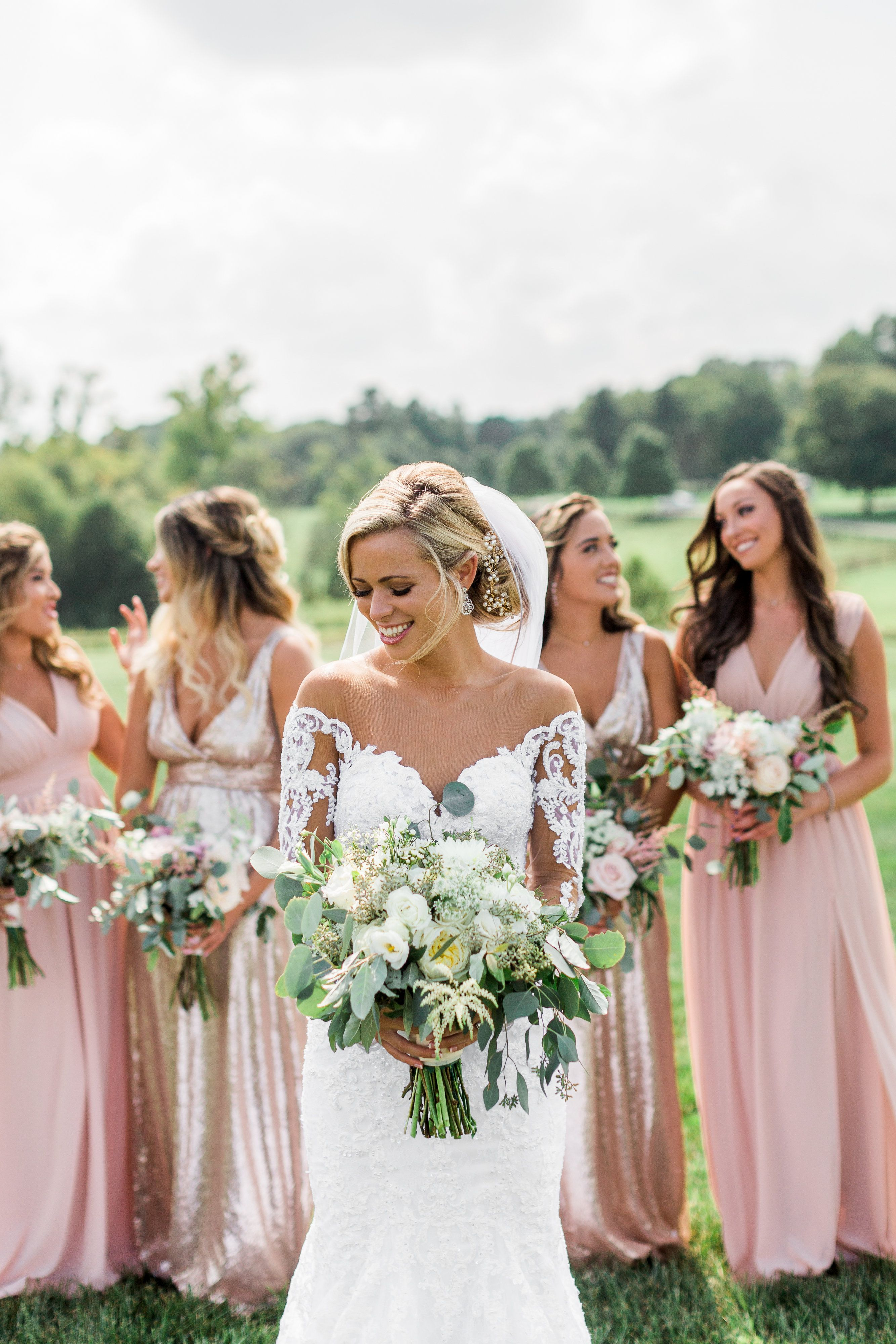 mollie + sam's romantic virginia farm wedding | beautiful