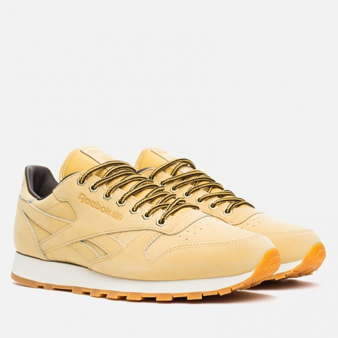 Кроссовки Reebok Classic Leather WP Wheat/Dark Brown