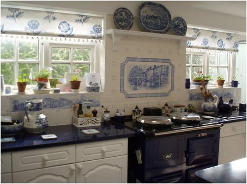 blue delft tile kitchen netherlands | delft designer kitchen