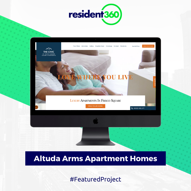 Irwin R Rose Company Partnered With Resident360 For The Website Design And Development Of Altuda Arms Apartmen In 2020 Website Design Development Apartment Websites