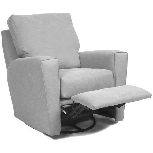 Monaco Glider Recliner In Custom Fabrics And Upholstered Nursery Gliders In Little  Castle : All Gliders