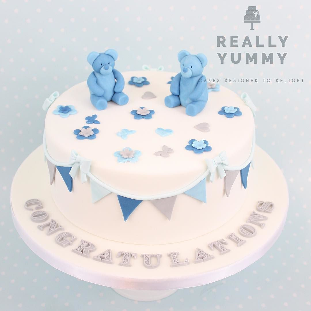 A Sweet Little Last Minute Baby Shower Cake For Boy Twins