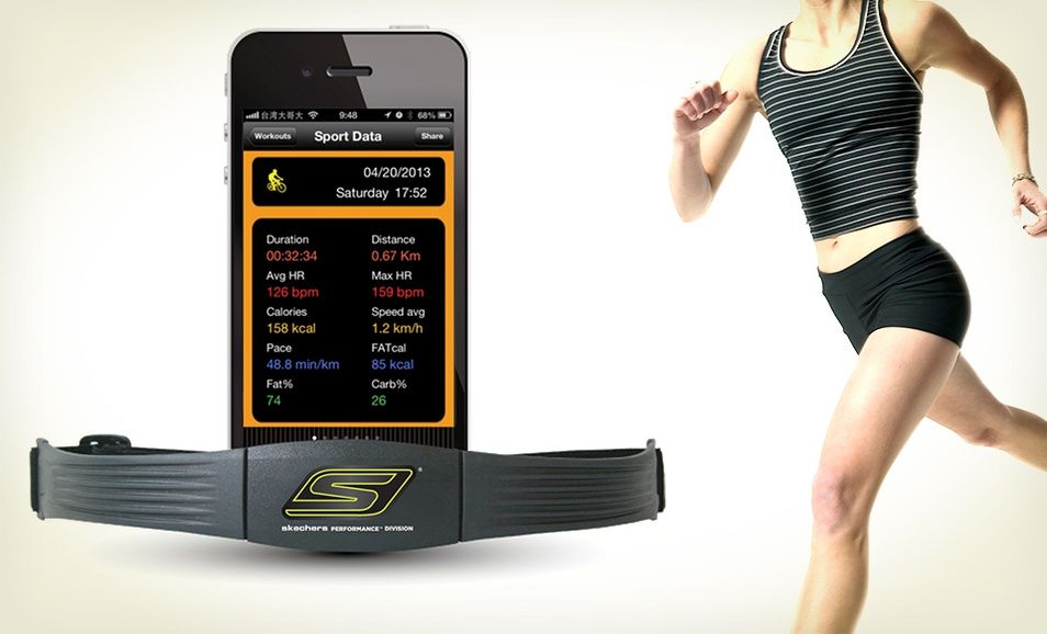 skechers go run heart rate monitor
