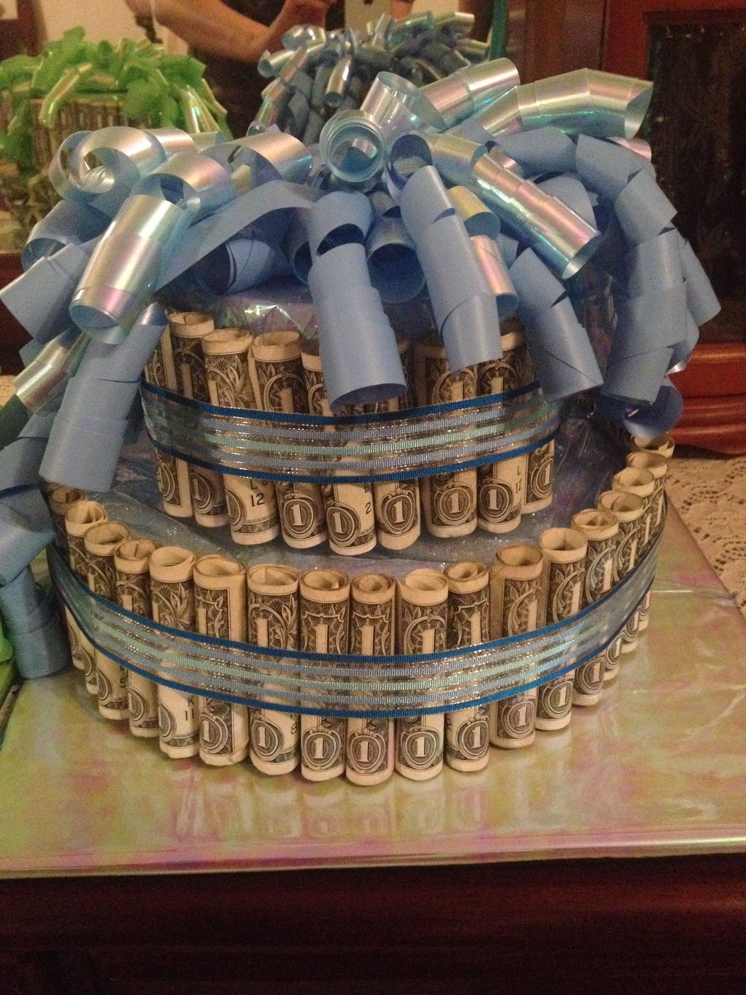 Peachy Cash Money Birthday Cake Present Money Cake Dollar Bill Cake Personalised Birthday Cards Veneteletsinfo