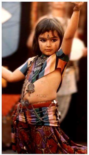 Suhaila Salimpour age 6.