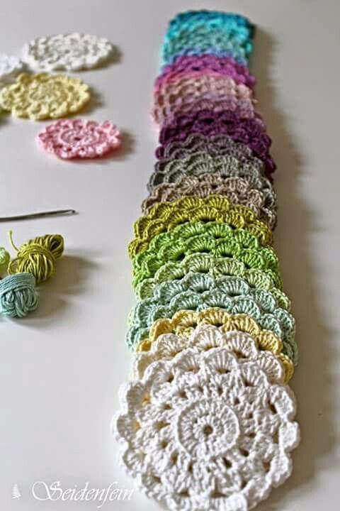 Fantástico Montañas Patrón De Crochet Libre Ornamento - Ideas de ...
