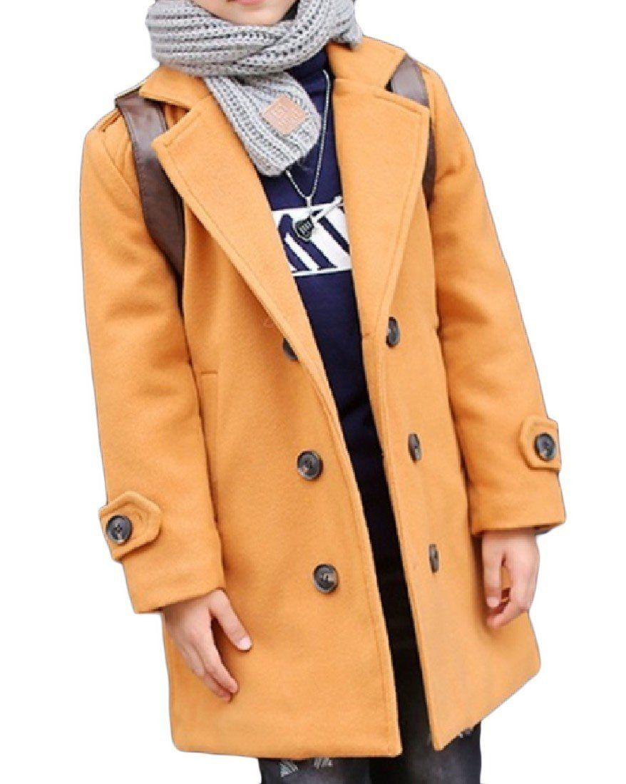 09f9db8b3833 Coolred Children s Trench Coat Longline Winter Double Breasted ...