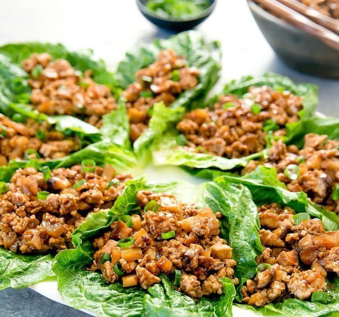 pf chang's chicken lettuce wraps  recipe  lettuce wraps
