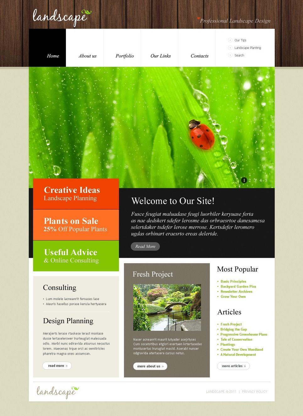 Landscape Design Psd Template 50092 Landscape Design Psd Templates Web Design
