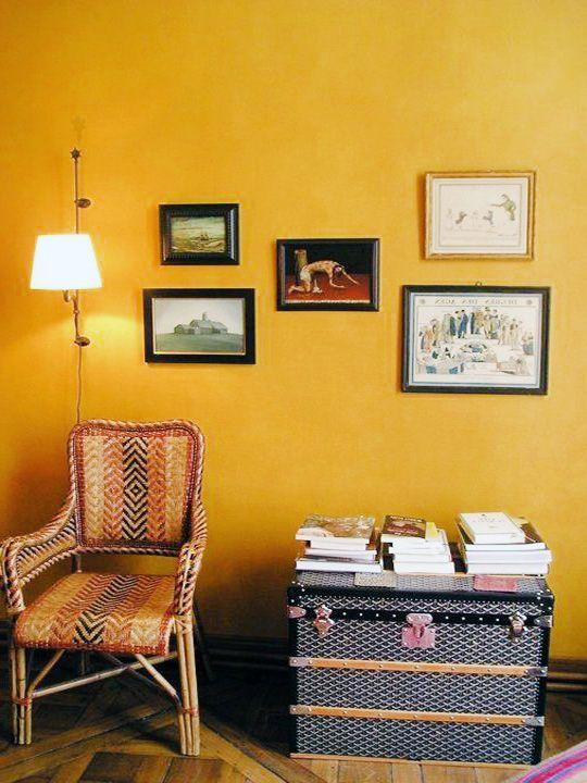 Mustard Yellow Living Room walls | Living Room | Pinterest | Living ...