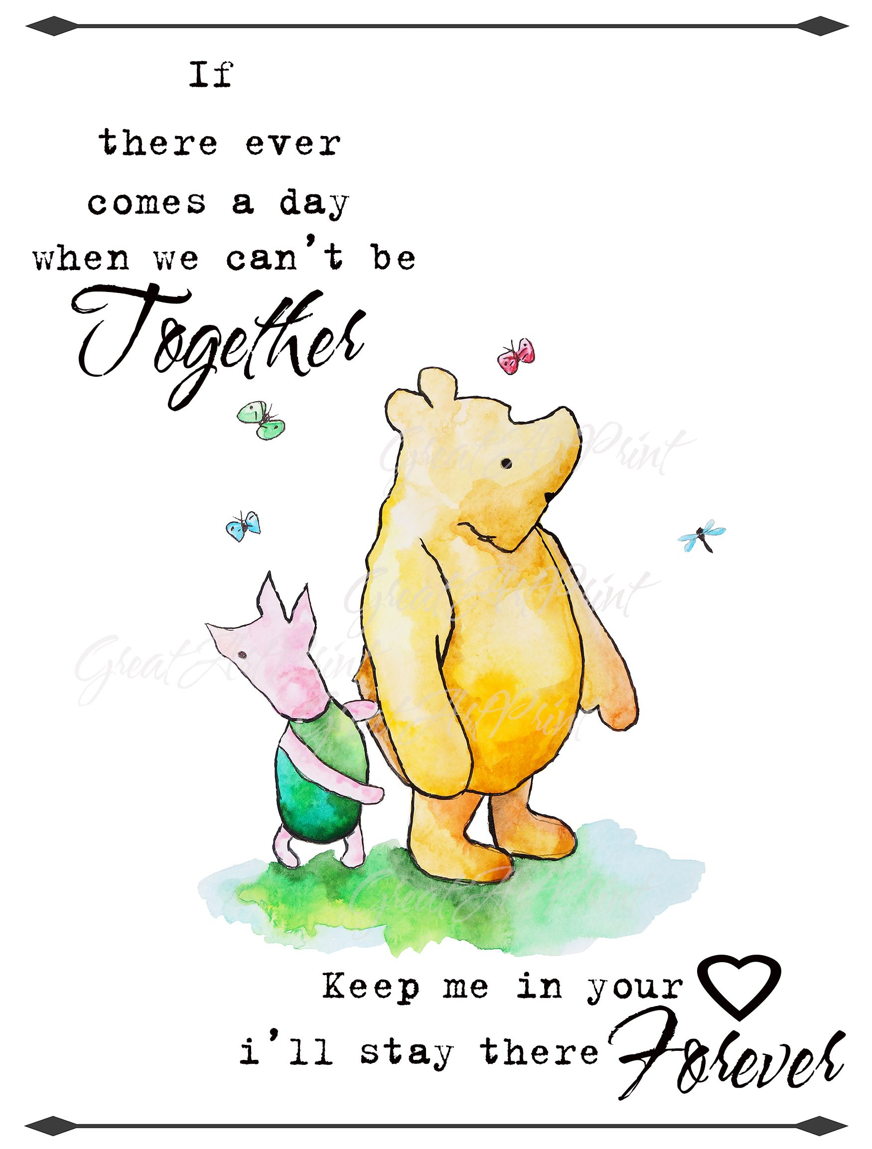 Winnie the Pooh quote poster together forever Poster
