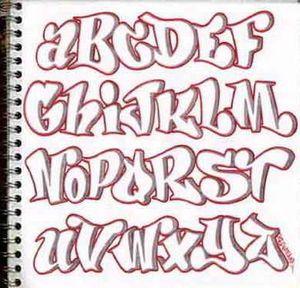 手帳もメモ書きもアートにしたい 真似して書きたくなる グラフィティアートのアルファベット集 Naver まとめ Graffiti Lettering Fonts Lettering Alphabet Lettering