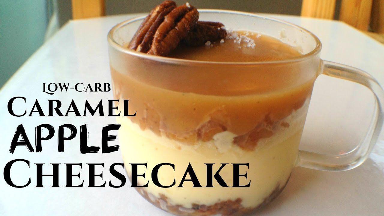 LowCarb Caramel Apple Cheesecake GlutenFree + Sugar