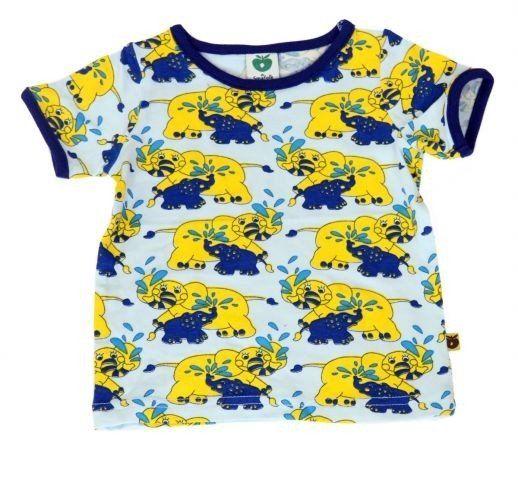 Smafolk T-shirt 'Olifantjes' blauw - De Oude Speelkamer