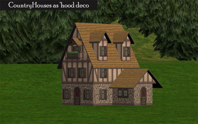 Country Houses As U0027hood Deco