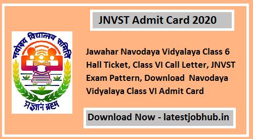 Jnvst Admit Card 2020 Andaman And Nicobar Islands Lakshadweep Nicobar Islands