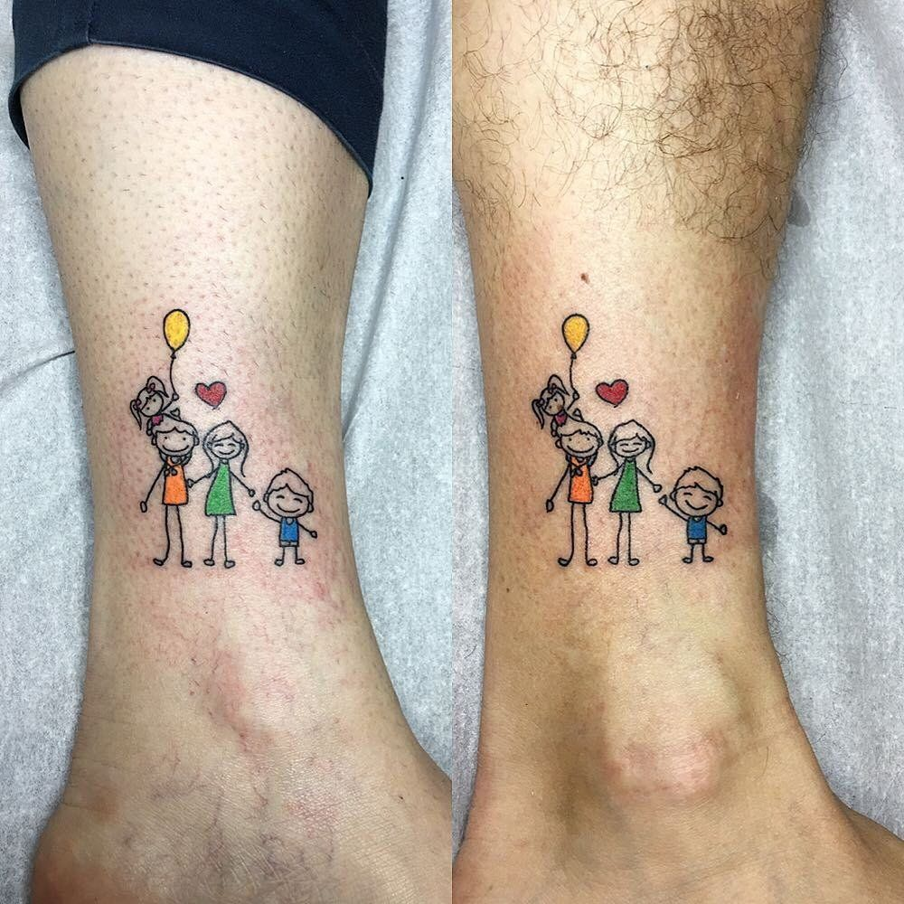 40 meaningful tattoos parents got to honor their kids