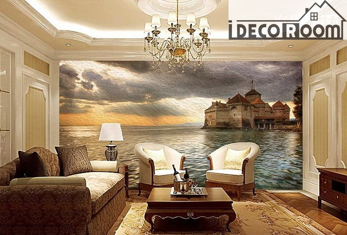 Castle wall paper wall print decal wall deco indoor wall mural wallpaper that wall