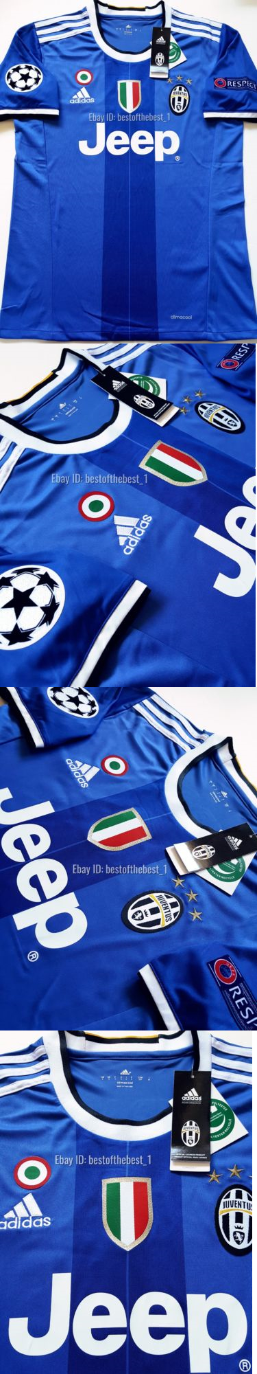 ... NWT Soccer-International Clubs 2887 2016 2017 Juventus Champions League  Paulo Dybala Away Jersey Blue . 491efe50a