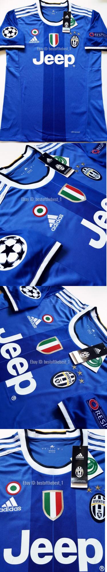 ... NWT Soccer-International Clubs 2887 2016 2017 Juventus Champions League  Paulo Dybala Away Jersey Blue . 491efe50a