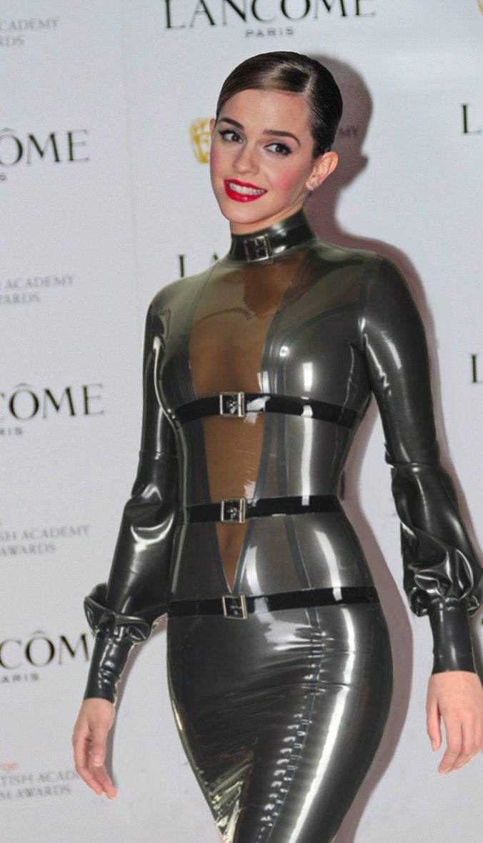 Emma Watson In Latex Bondage Dress By Andylatex