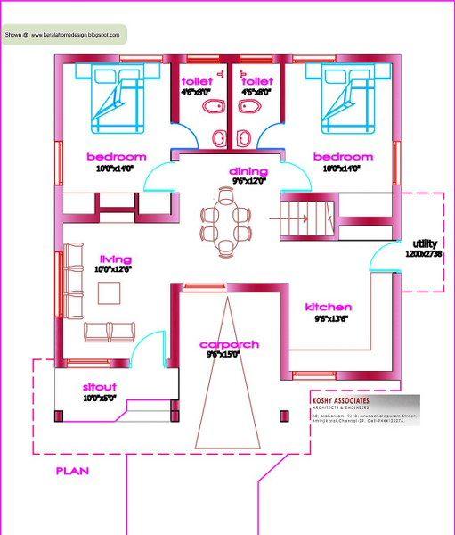 Kerala Home Plans Under 1000 Sq Feet Kerala House Design Home Design Floor Plans Model House Plan