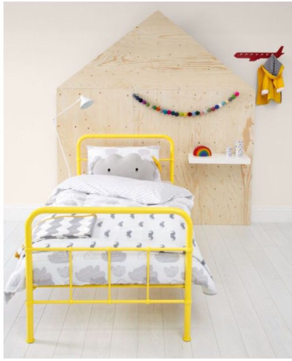 rory yellow metal single bed - Yellow Bed Frame