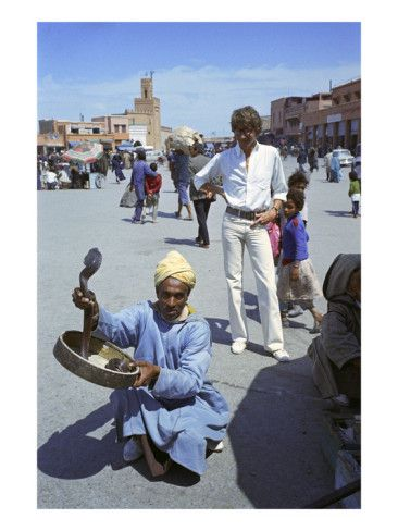W - April 1972 - Yves Saint Laurent in Marrakech