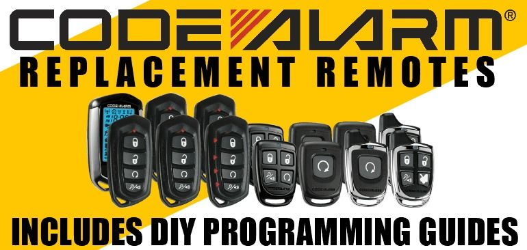 Code alarm replacement remotes remote car starter