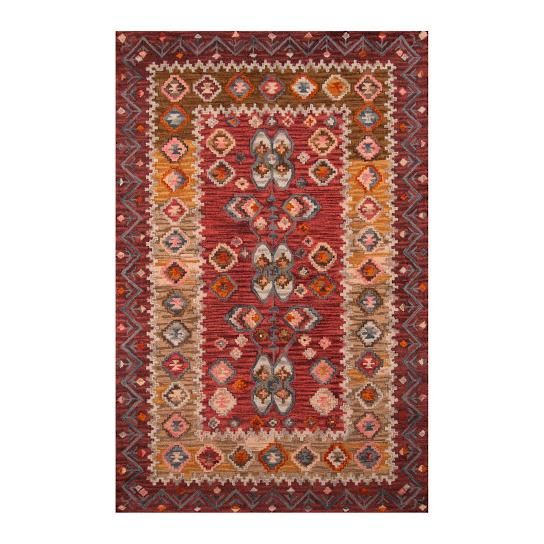 When you choose to enhance the beauty of your home with our antiqued Austin Indoor Area Rug, you'll enjoy all the marvelous character of a rare heirloom     find from the very first day. The secret is a proprietary washing process that creates the instantly rich, time-honored look and feel.               Antiqued indoor area rug with colorations of deep red, gold, and neutral tones                   Skillfully hand-hooked of naturally durable wool                   Expertly tip-sheared ...