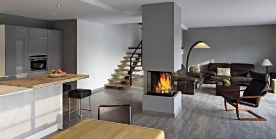 open haard modern - Google zoeken our home Pinterest House - wohnzimmer schwarz weiss holz