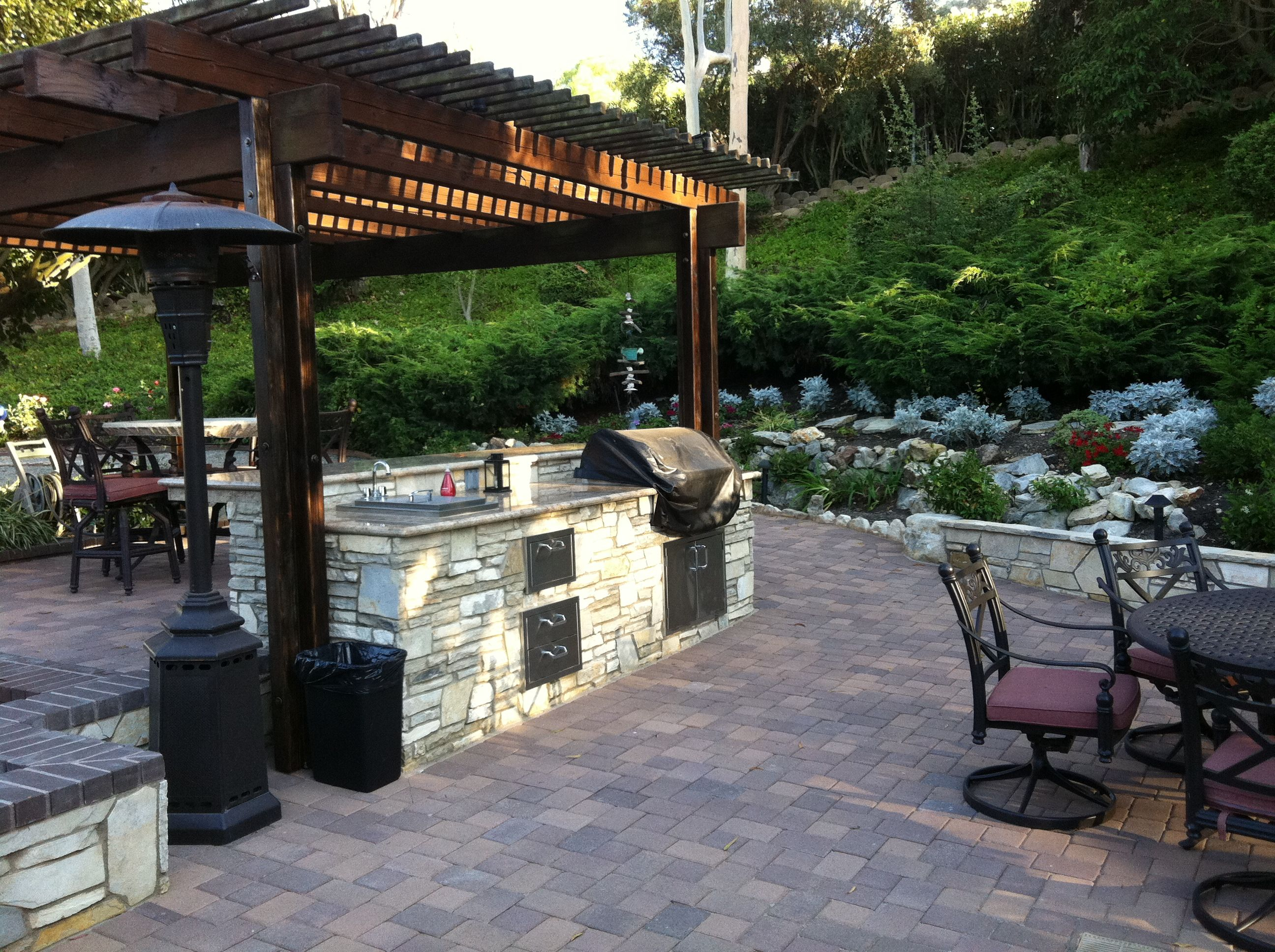 New patio, New BBQ island | Barbecue design, Patio ... on Backyard Patio Grill Island id=13046