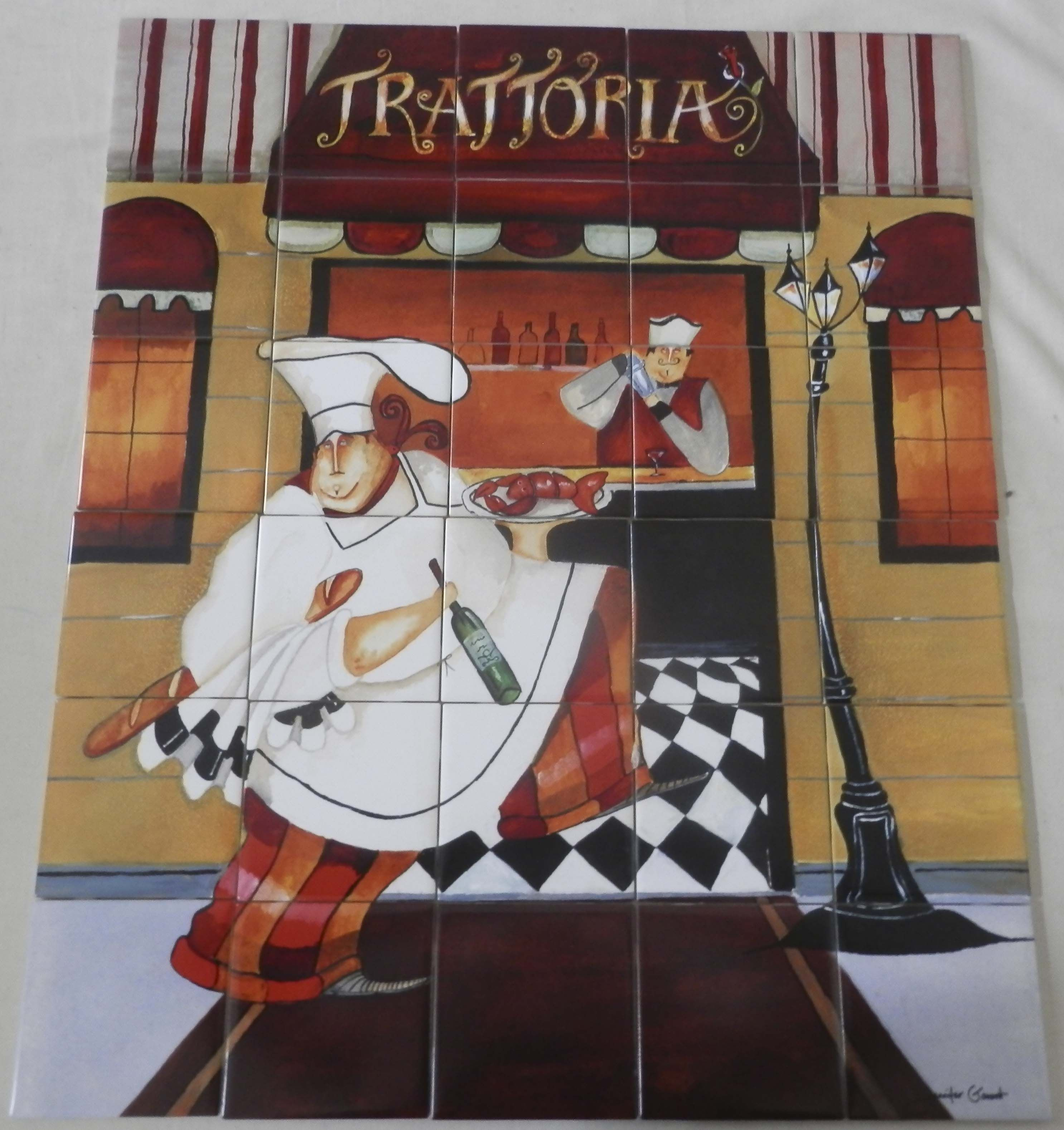 Decorative Wall Tile Murals Trattoria  Jg  Tile Mural Our Decorative Tiles Of Chefs Are