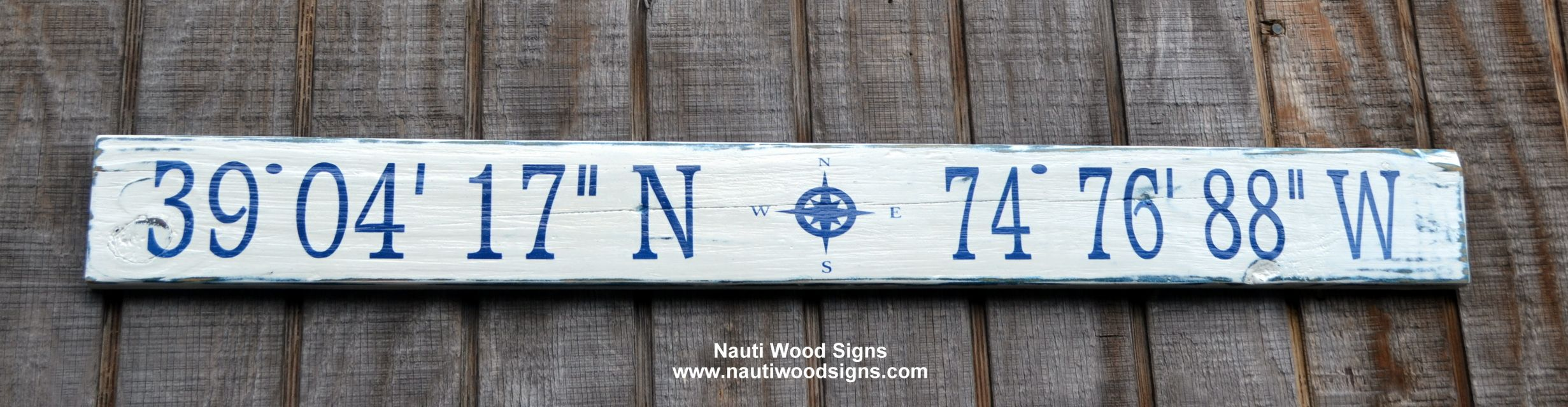 Latitude Longitude Sign Beach Decor Beach Signs Wooden Signs