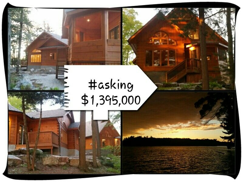 Little Whitefish Lake -  2 Log Cabin Cottages  southwest exposure  5 Bedrooms 5 Baths