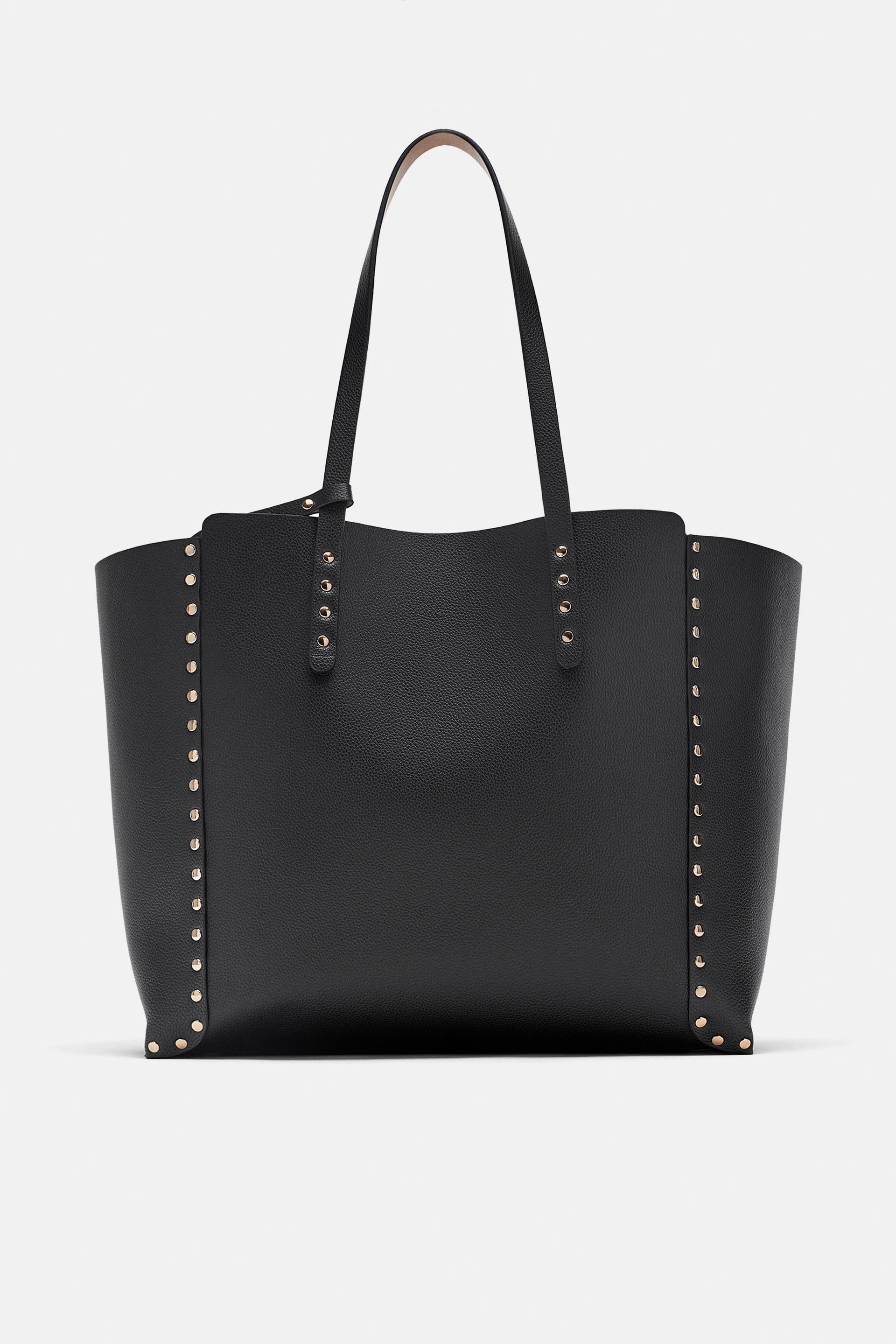 b2ad42c1da9b STUDDED REVERSIBLE SHOPPER BAG - Item available in more colors  Zara ...