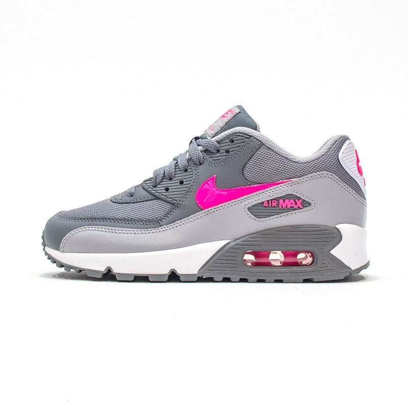 Nike Air Max 90 Mesh (Gs) Cool Grey Hyper Pink [724855-007