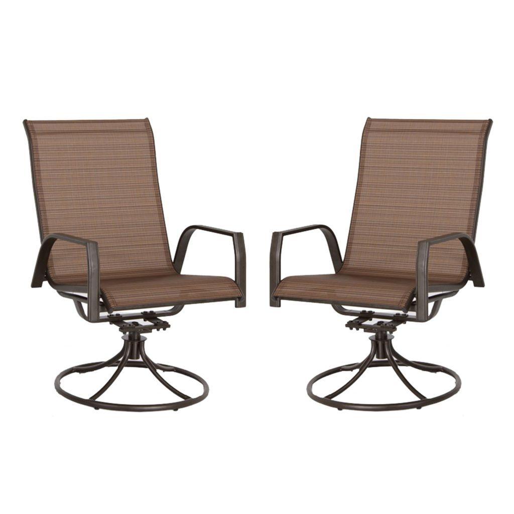 sonoma goods for life coronado swivel sling patio chair 2 piece