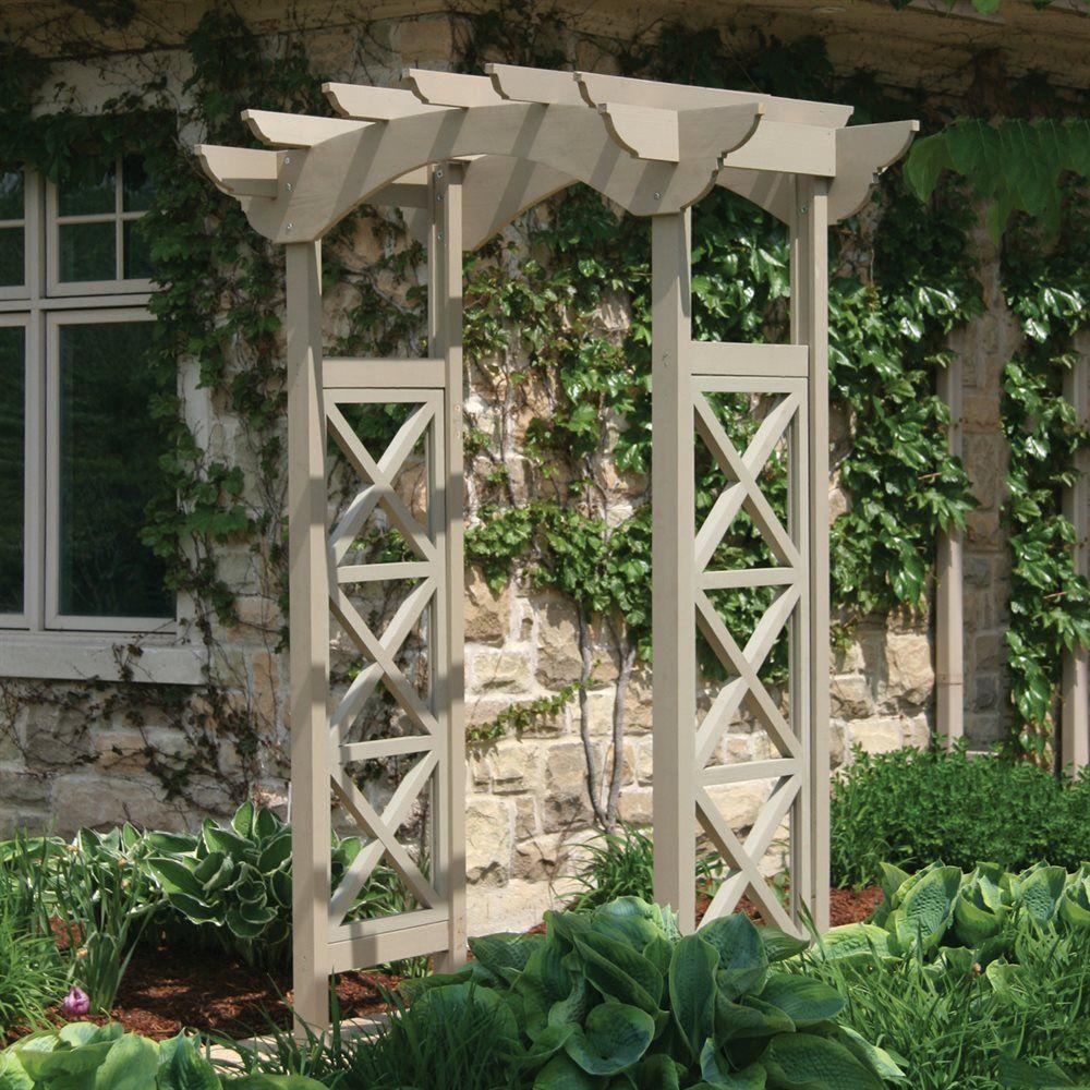 Yardistry Ym11627 Garden Arbor With X Panels Lowe S Canada