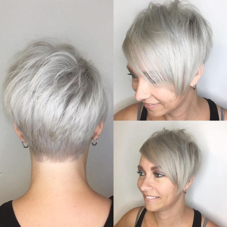 30 Cool Grey Short Hairstyles For Women Youll Love Yeahgotravel Com Short Hair Styles For Round Faces Short Hair Styles Thick Hair Styles