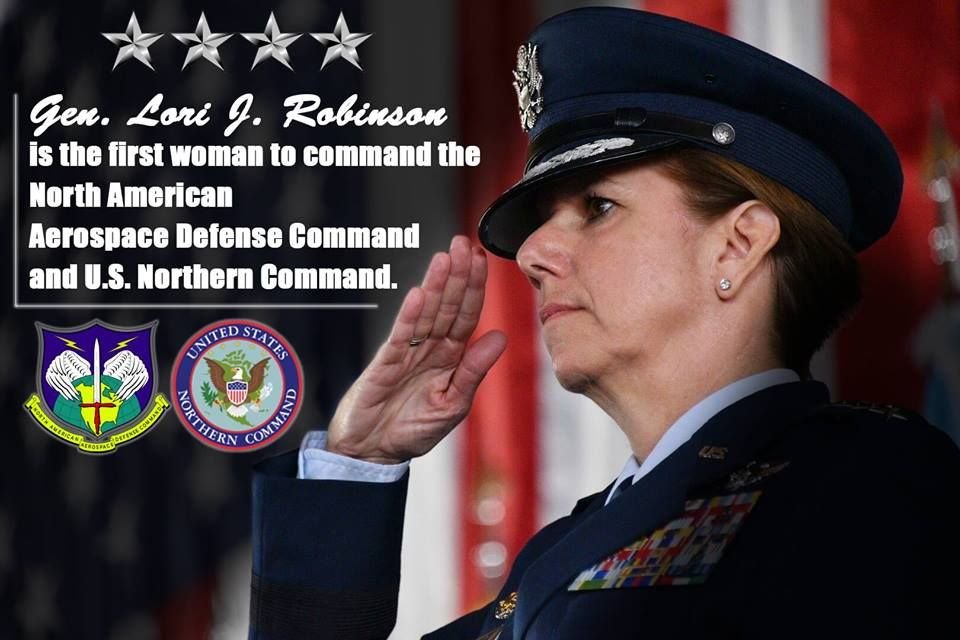 I chose this picture because of the fact that Lori Robinson is going to be the fist woman to lead the US air force, and I think you need to be very brave to do that.