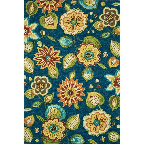 Loloi Sonata Blue Floral 5Ft X 7Ft Outdoor Washable Rug, Found At  TuesdayMorning.com