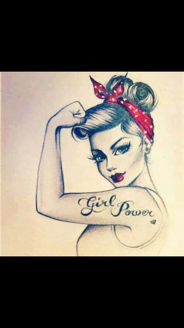 pin up girl power