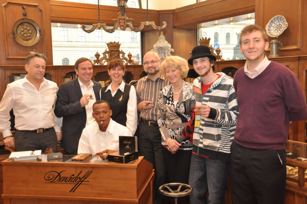 Managing Director Mirko Pettene And His Amazing Staff From Max Zechbauer Cigars Munich Germany And Cigar Roller John From Davidoff