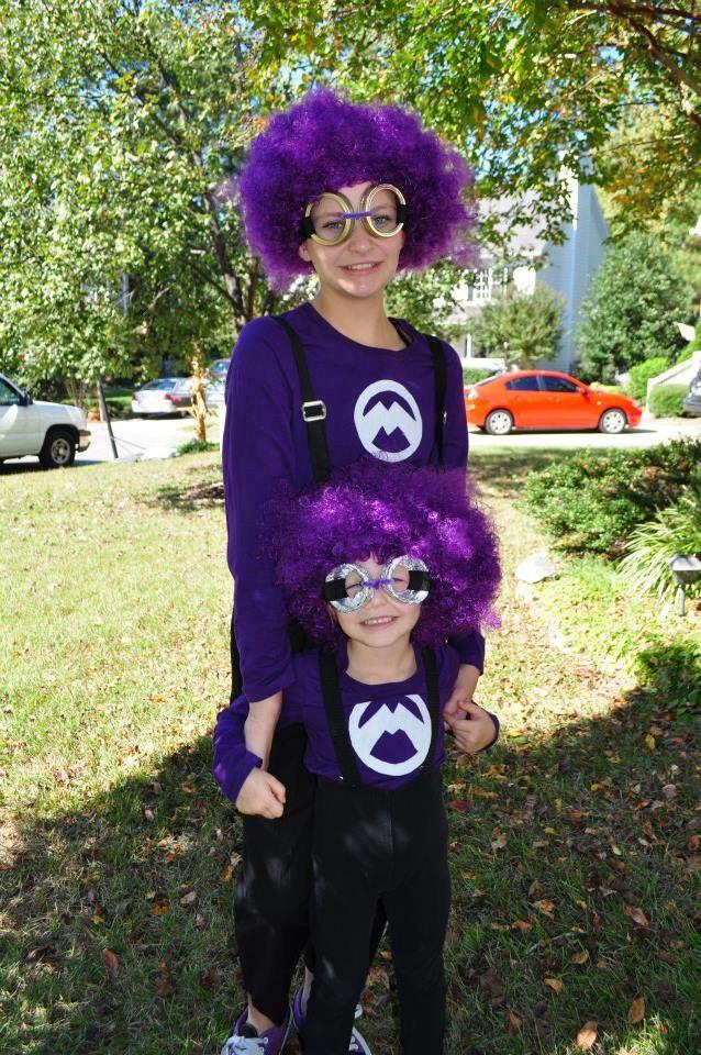 Diy Despicable Me Purple Minion Costume Disfraces Disfraces Carnaval Minions