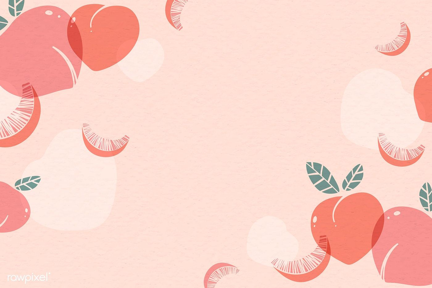 Download premium vector of Peach patterned background with design space
