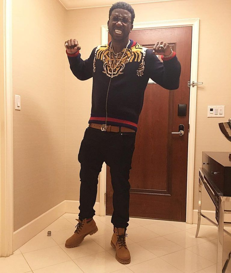 40a0aaf62c7 Gucci Mane Rocks Gucci Tiger Zip Sweater