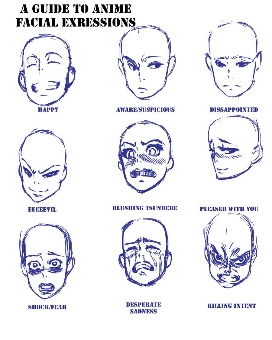 Anime Expressions By Aarokilla On Deviantart Facial Expressions Drawing Face Drawing Reference Drawing Expressions
