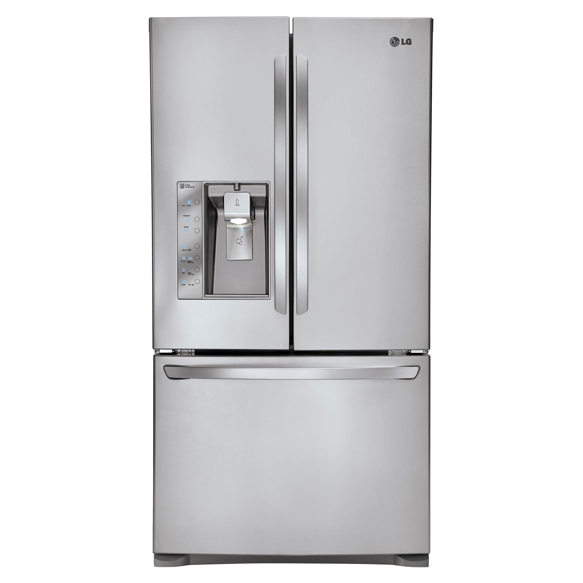 Lg 24 6 Cu Ft Counter Depth French Door Bottom Freezer